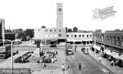 Crewe, Town Centre c.1957