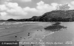 Castle From Black Rock c.1960, Criccieth