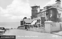 Criccieth, Marine Hotel c.1955