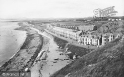 Criccieth, Marine Parade From Castle 1913