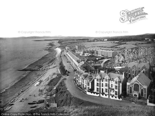 Old historical nostalgic pictures of criccieth in gwynedd for 50 marine terrace