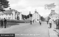 Criccieth, Memorial Hall c.1955