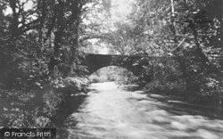 Criccieth, River Dwyfach And Rhydycroesan Bridge c.1931
