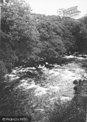 Criccieth, River Dwyfach From Rhydybenllig Bridge c.1931
