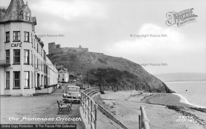 Photo of Criccieth, The Promenade c.1955