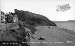 West Beach And Castle Hill c.1955, Criccieth