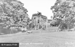 Crickhowell, Castle Grounds c.1960