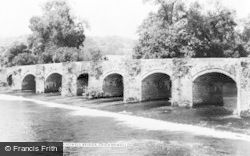 Crickhowell, Crickhowell Bridge c.1965