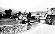 Crickhowell, in the Village c1930