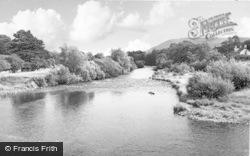 Crickhowell, River Usk 1951