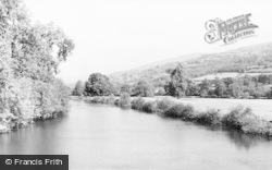 Crickhowell, The River Usk c.1960