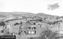 Crickhowell, Town And Table Mountain c.1960