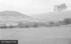 Crickhowell, View From Bwlch Pass 1951