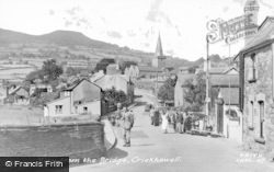 Crickhowell, View From The Bridge c.1955