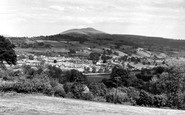 Crickhowell, view from the Dardy c1955