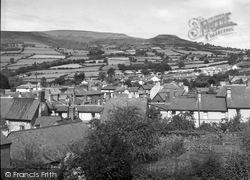 Crickhowell, View Of Town And Table Mountain (Crug Hywel) 1951