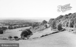 Crockham Hill, View Of Froghole c.1955