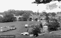 Croft-on-Tees, Sports Field And Bridge c.1955