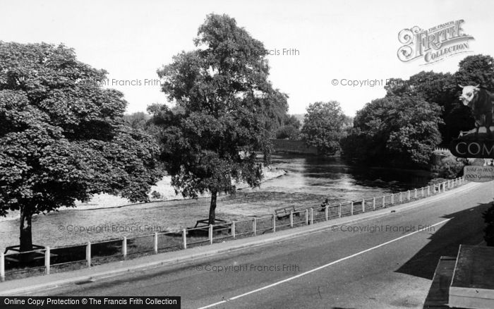 Photo of Croft On Tees, The River c.1955