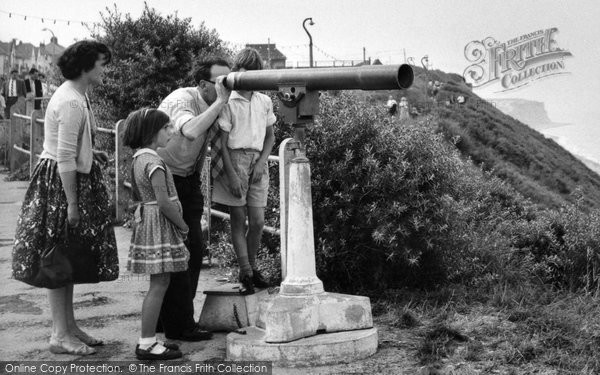 Cromer, Family At The Telescope c.1955