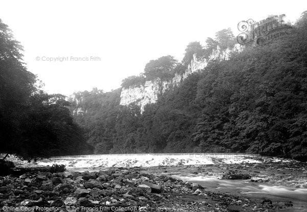 Matlock Bath,Mill Weir 1892,Derbyshire