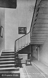 Willersley Castle, Entrance Hall And Stairs  c.1955, Cromford