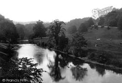 Willersley Castle From Cromford Bridge c.1884, Cromford