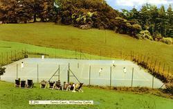 Willersley Castle Tennis Court c.1955, Cromford