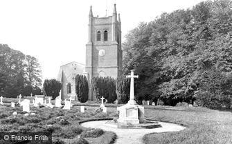 Crondall, All Saints Church and War Memorial 1930