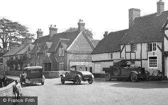 Crondall, Armoured Car in Village 1930