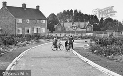 Crondall, Family Cycle Ride, The New Housing Estate c.1955