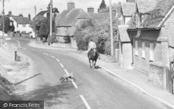 Crondall, Horse Riding In Dippenhall Street c.1960