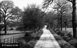 Crondall, Hyde Lane c.1955