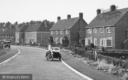Crondall, Motorbike With Sidecar, The New Housing Estate c.1955