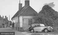 Crondall, Wolseley Car at the Village Stores c1955
