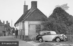 Crondall, Wolseley Car At The Village Stores c.1955