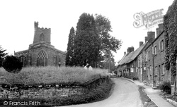 Red Lion Street And Parish Church Of St Mary The Virgin c.1955, Cropredy