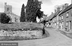 Red Lion Street And St Mary's Church c.1955, Cropredy