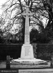 The War Memorial c.1950, Croston