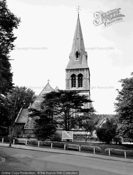 Photo of Crouch End, Christ Church, Crouch End Hill c.1965