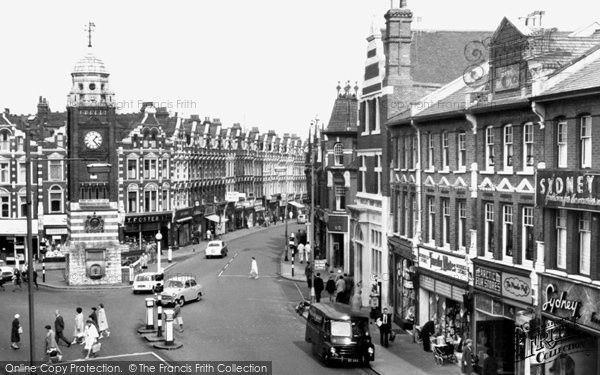 Photo of Crouch End, Clock Tower and Broadway c1965