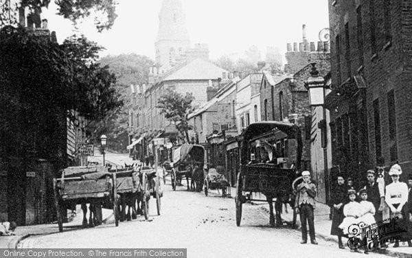 Photo of Crouch End, Crouch End Hill c.1890