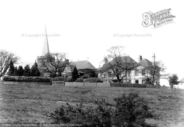 Crowborough, All Saints Church and Vicarage 1900