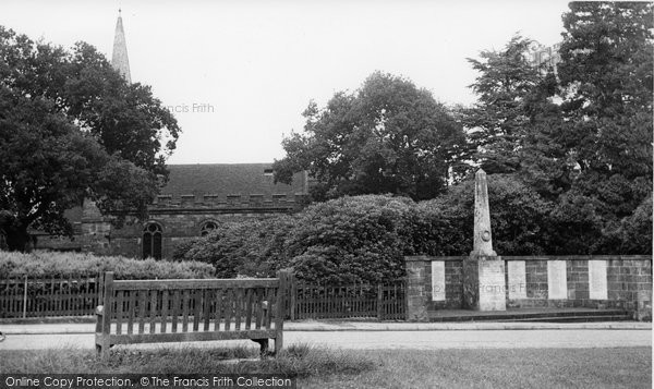Photo of Crowborough, All Saints Church And War Memorial c.1960
