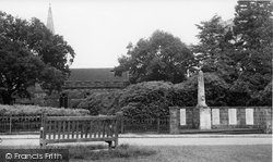 Crowborough, All Saints Church And War Memorial c.1960