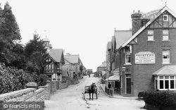 Crowborough, Cross, High Street 1900