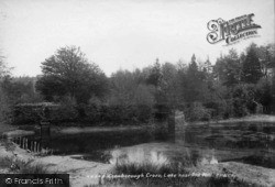 Crowborough, Lake Near Old Mill 1900