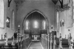 Crowborough, St John's Church Interior 1900