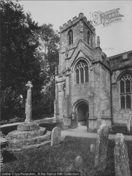 Crowcombe, Church and Old Cross 1929