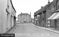 Crowle, Ancient Monument, White Hart Hotel c.1960